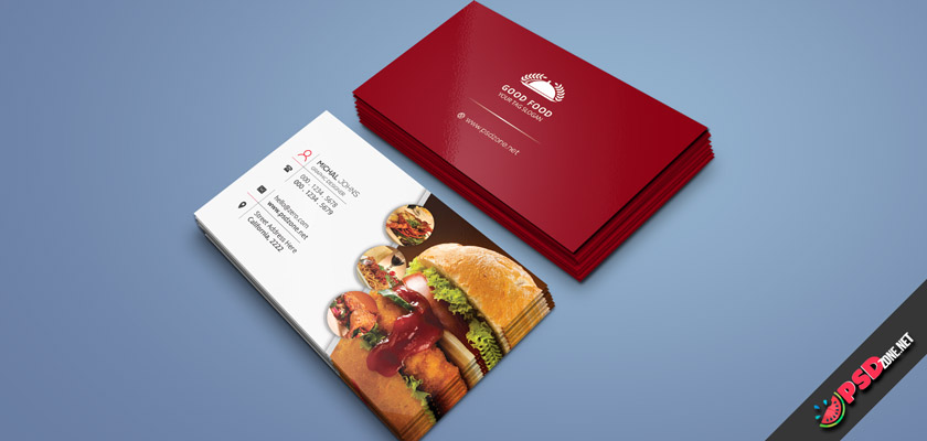 Restaurants-or-Cafes business card free psd download