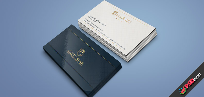 Royal business cards free psd