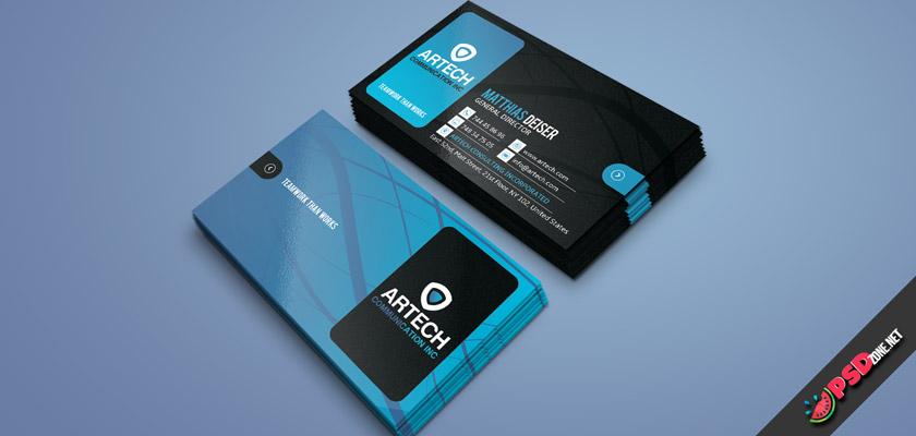 Technology business card modern