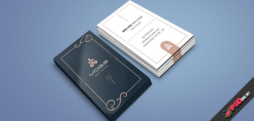 Yoga business cards psd free