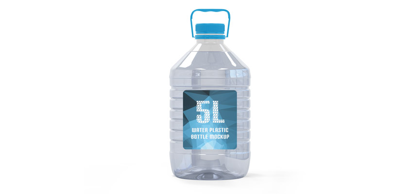 5l plastic bottle mockup