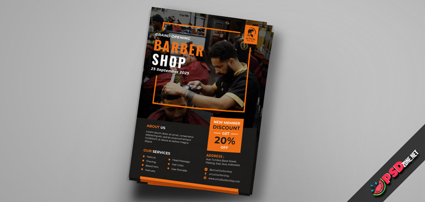 amazing Barbershop Flyer PSD
