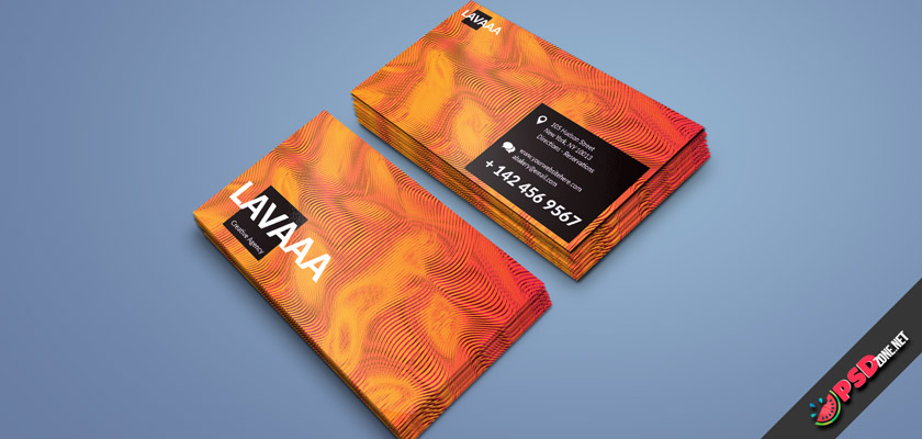 creative abstract business card psd