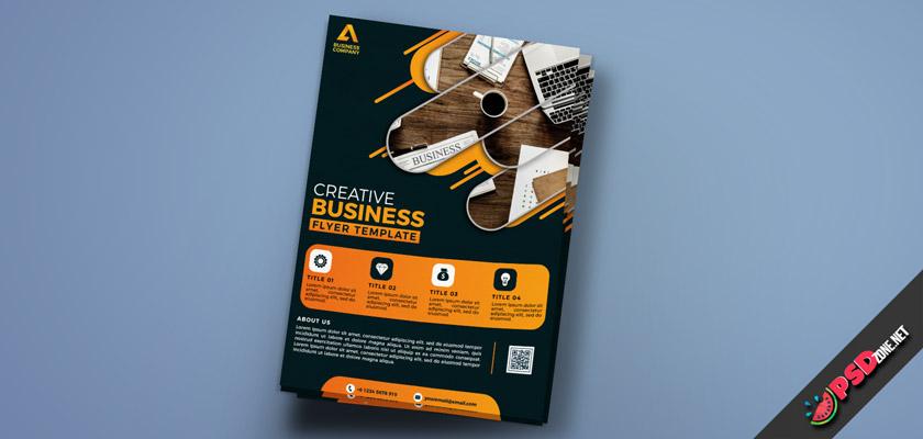 Dark Style Creative Business Flyer
