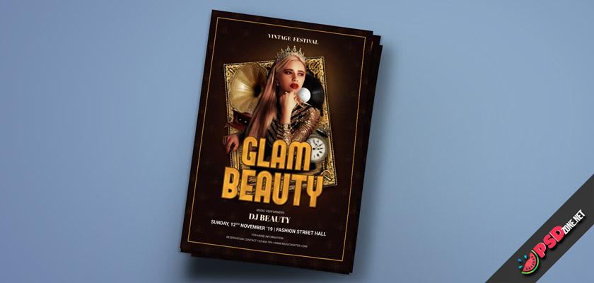 beauty Glam flyer free