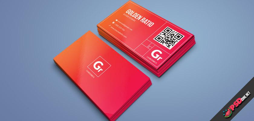 golden ratio business card design