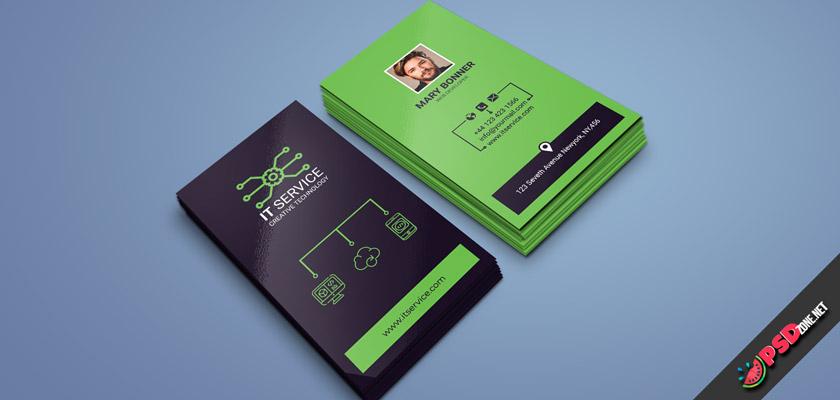 IT service technology business card