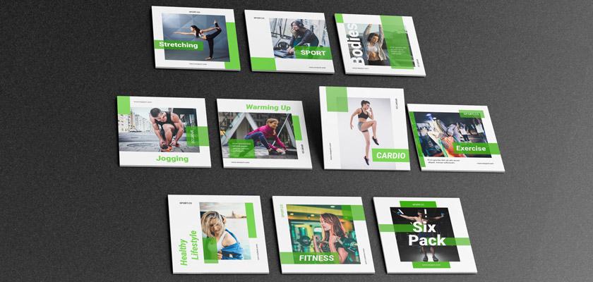 sports, gym, fitness instagram posts free