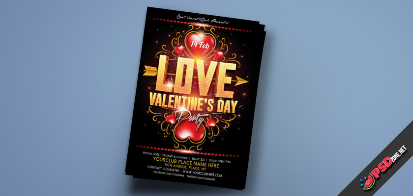 lovers day flyer free