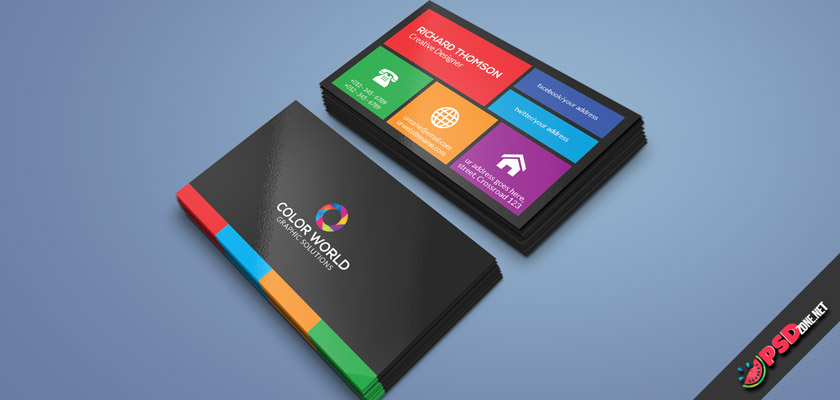 multipurpose colorful business card