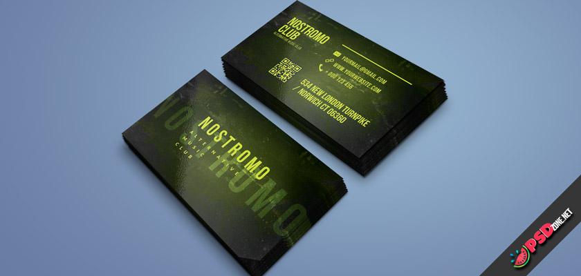 music club business card