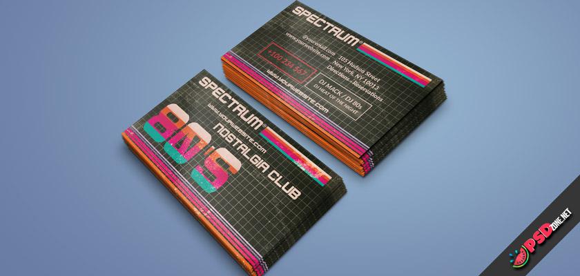 nostalgia club business card