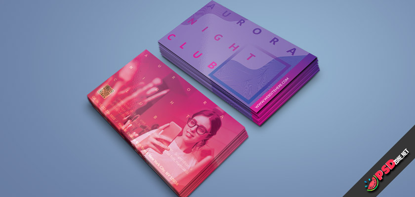 Pink Blue Business Card free