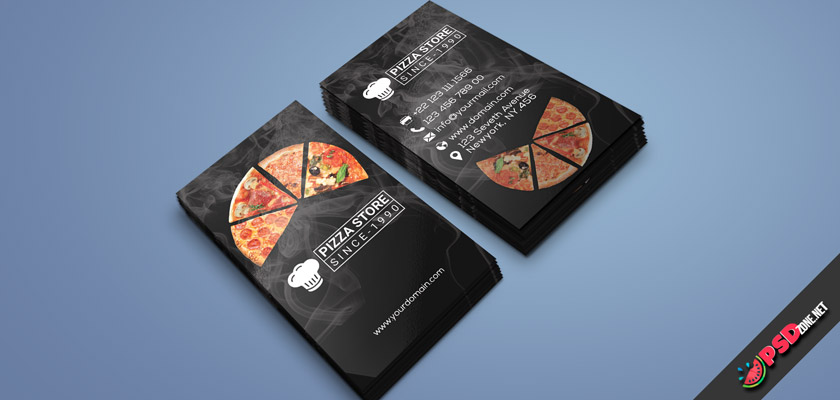 exclusive pizza store business card