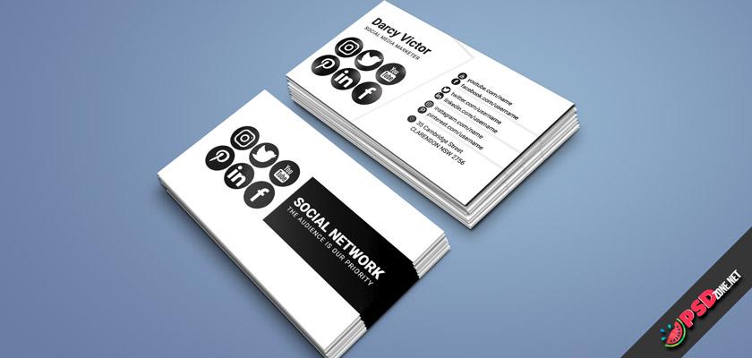 social media marketing business card