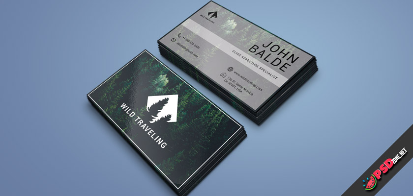 adventure traveling business card