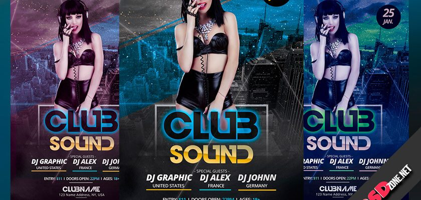 club sound flyer
