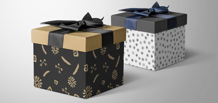 gift box mockup psd free download