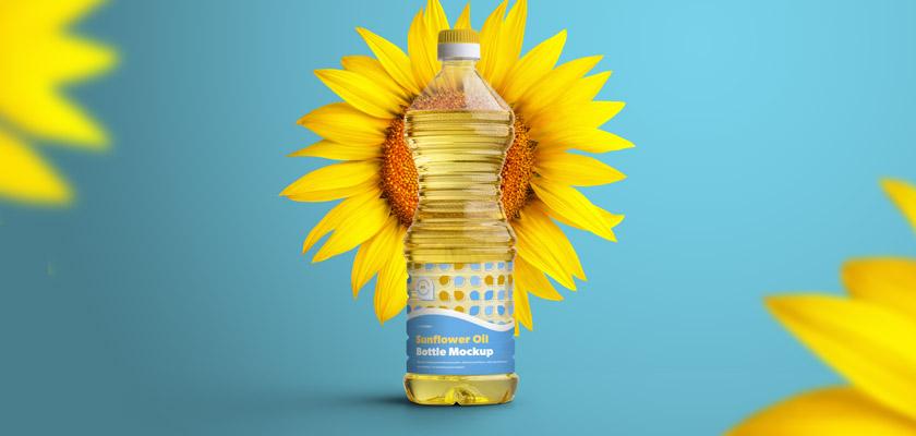 plastic oil bottle mockup free