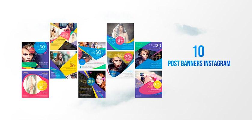 Instagram fashion post pack
