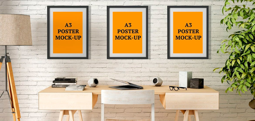 A3 Poster mockups free