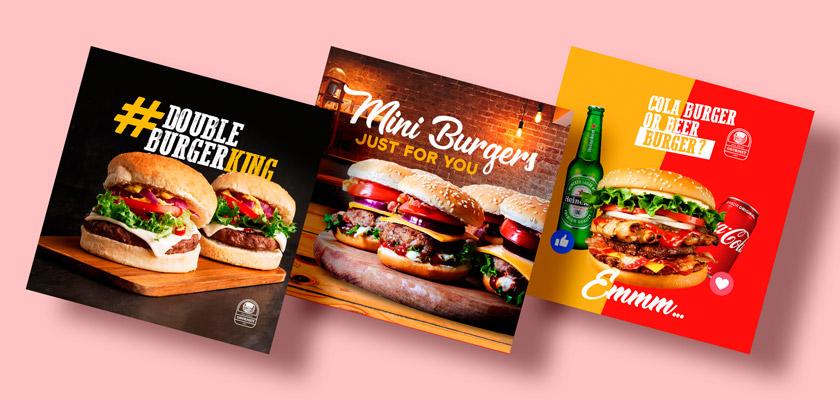 burger banners psd
