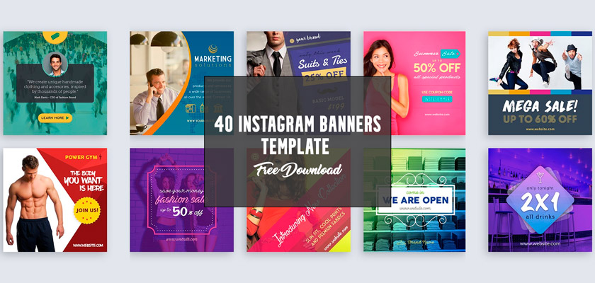 instagram banners free psd