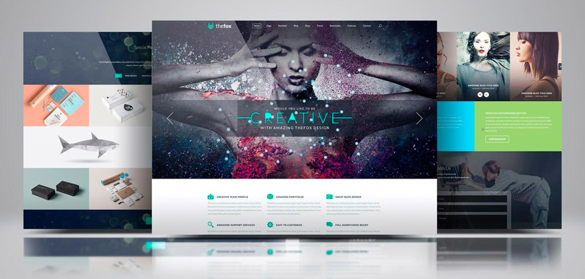 website showcase psd free