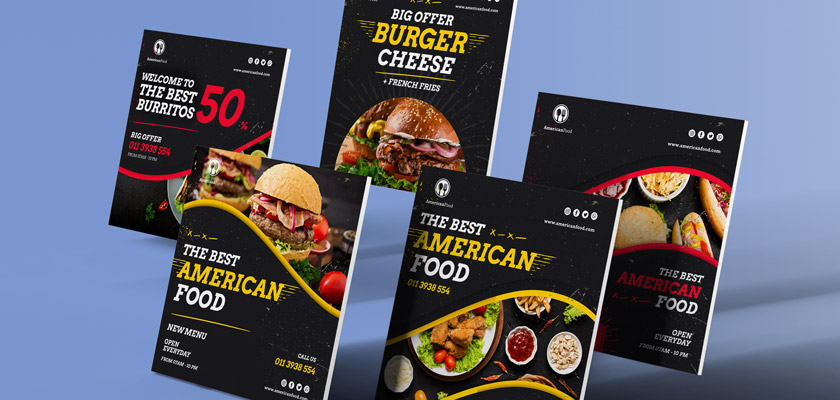 American foods banners design