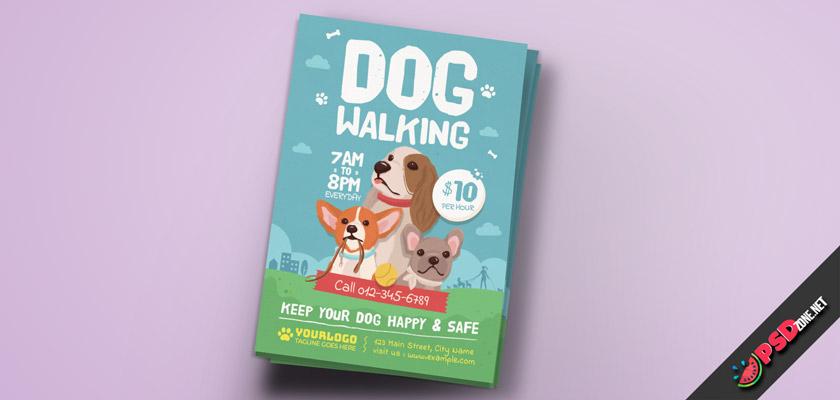 dog walker job flyer free