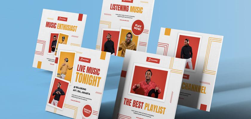 Listening Music Instagram banner