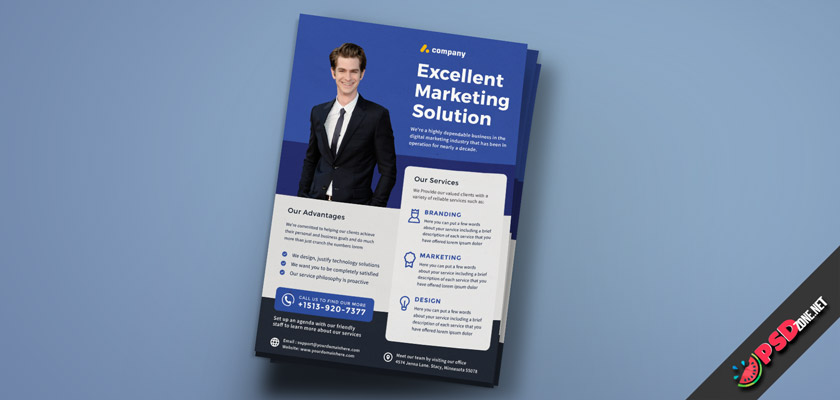marketing services flyer free