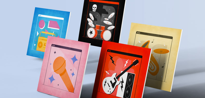 musical Instagram post templates free