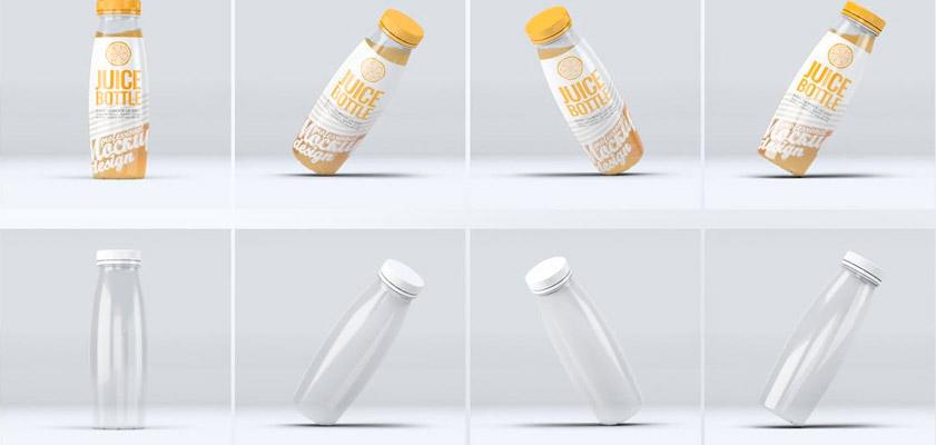 Juice Bottle Mockup free psd