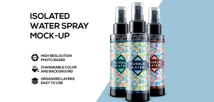 Spray Bottle Mockup free psd