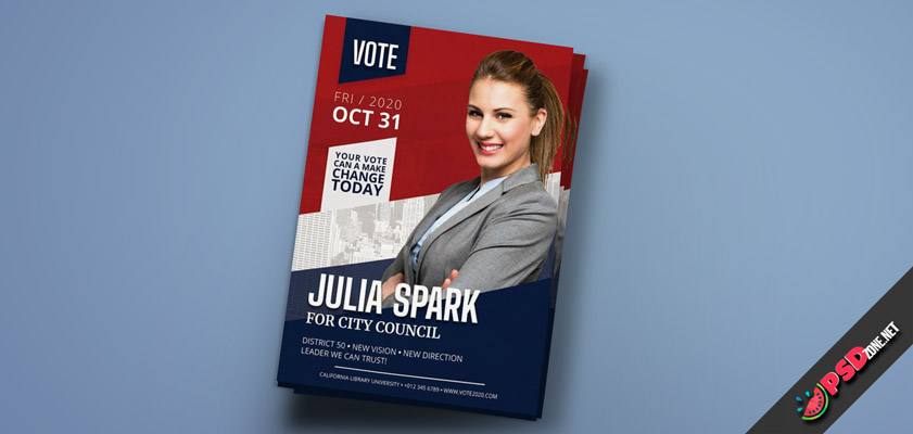 Political Election Female flyer