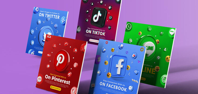 social network banners free psd