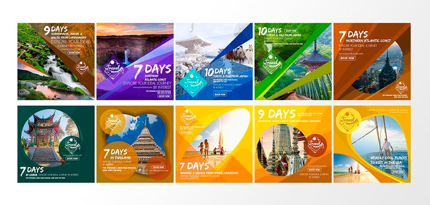 Travel Instagram Post Templates free