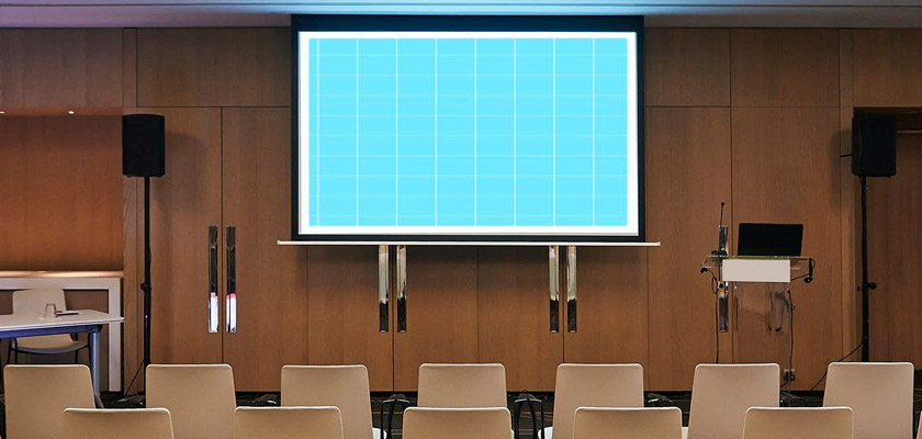 Conference Room Screen Mockup