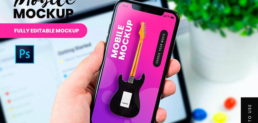 Mobile On Hand Mockup